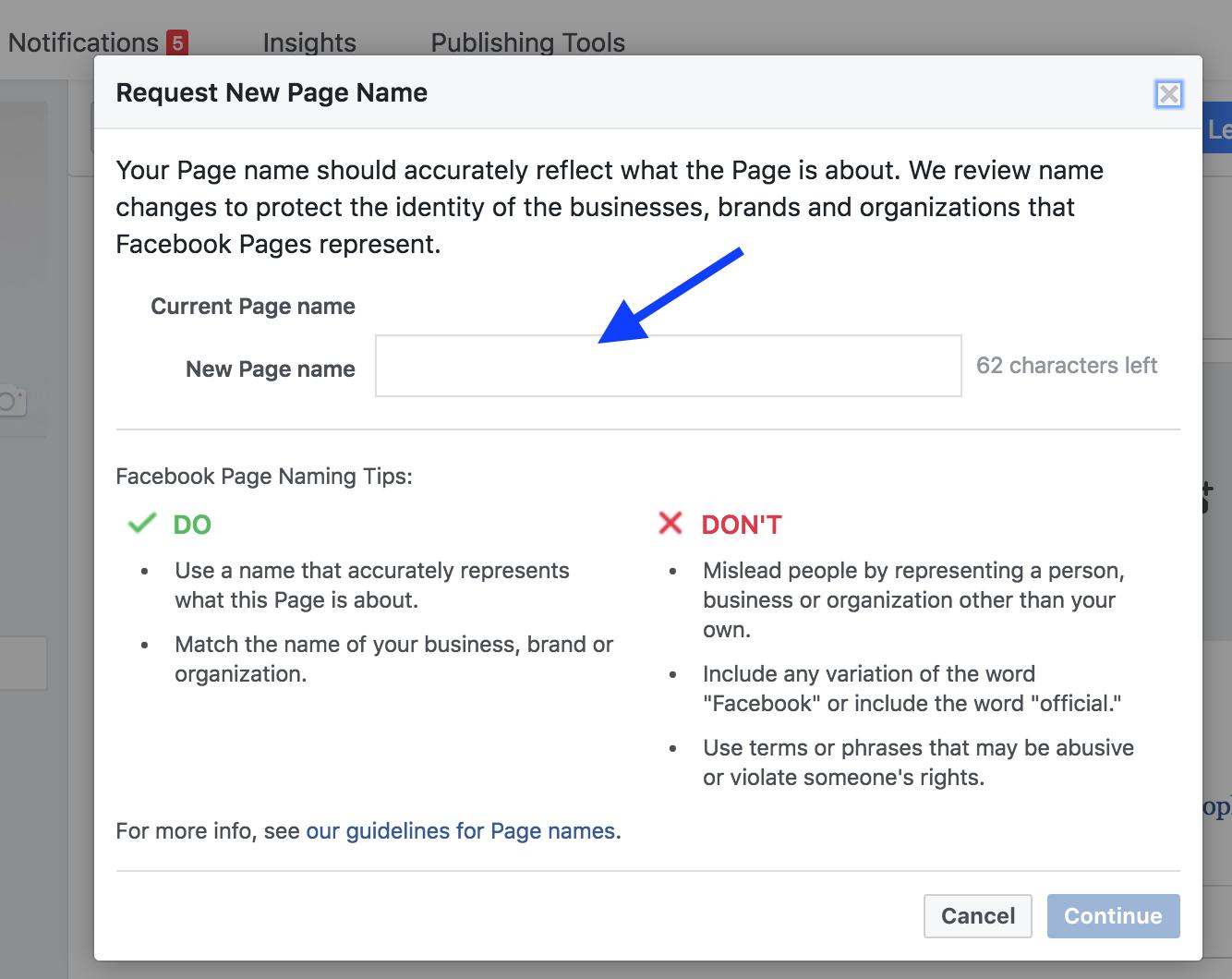 rebranding social media accounts facebook page name