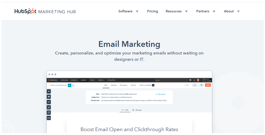 HubSpot Email Marketing