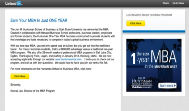 LinkedIn MBA Example