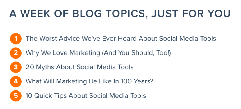 Blog Topics Just For You