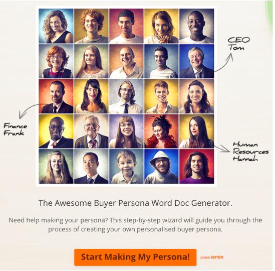 HubSpot Created MakeMyPersona