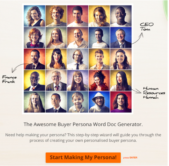 HubSpot Created MakeMyPersona
