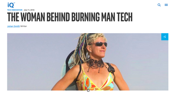 The Woman Behind Burning Man Tech