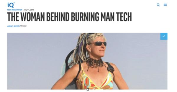 The Woman Behind Burning Man Tech