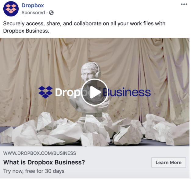 Remarketing ad example