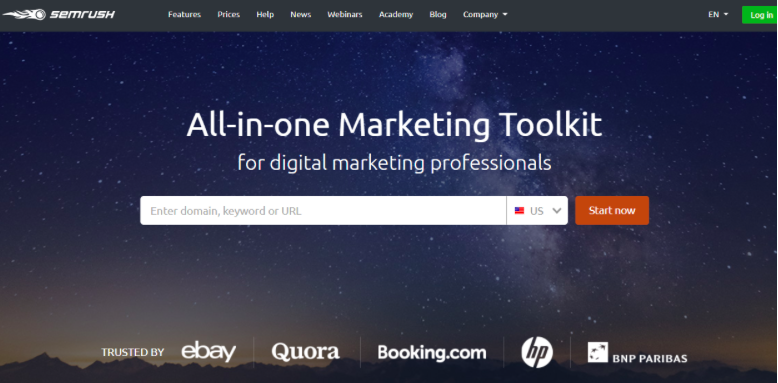 SEMRush All-in-one Marketing Toolkit