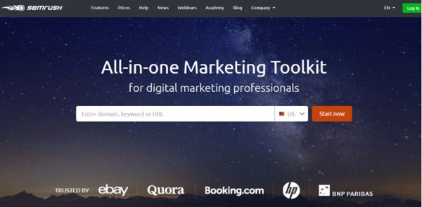 SEMRush All-in-one Marketing Toolkit