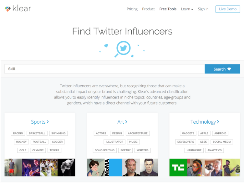 Klear Influencer Search Engine