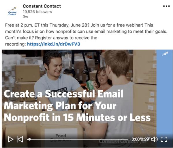 Constant Contact social media