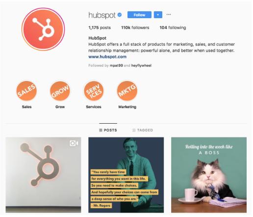 HubSpot Instagram