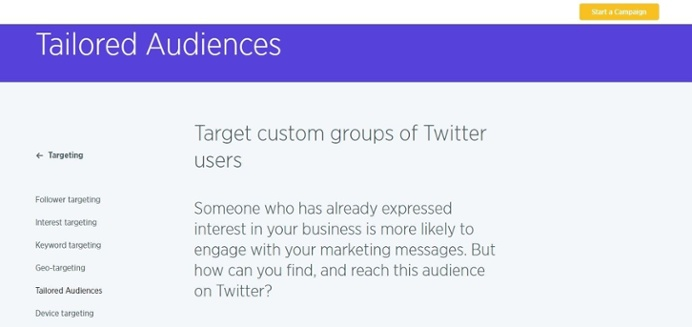 targeted audiences on Twitter