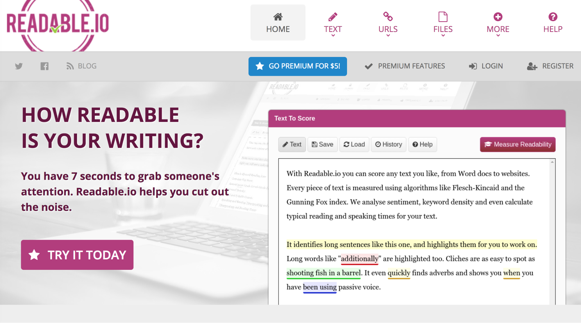one of the best content writing tips is to have readable text- using readable.io